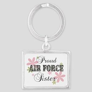 Air Force Sister [fl camo] Landscape Keychain